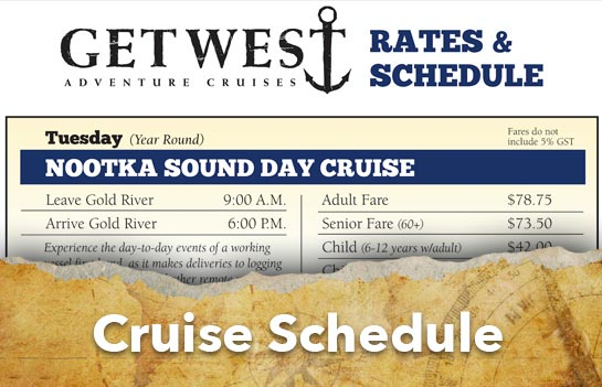 GetWest Adventure Cruise Schedule
